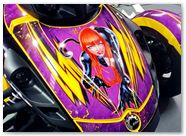 Can-Am Spyder RS CreatorX Graphics Purrfect Light Purple 01