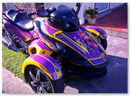 Can-Am Spyder RS CreatorX Graphics Purrfect Light Purple 03