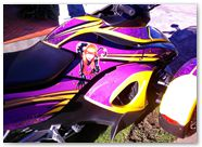 Can-Am Spyder RS CreatorX Graphics Purrfect Light Purple 06