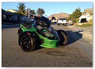 Can-Am Spyder RS CreatorX Graphics SpiderX Green 002