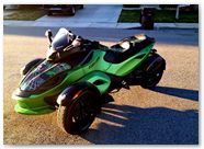 Can-Am Spyder RS CreatorX Graphics SpiderX Green 003