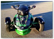Can-Am Spyder RS CreatorX Graphics SpiderX Green 004