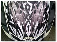 Can-Am Spyder RS CREATORX Hood Graphics Bolt Thrower White