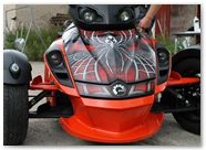 Can-Am Spyder RS GS CreatorX Graphics Kit SpiderX Red 001