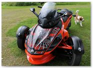 Can-Am Spyder RS GS CreatorX Graphics Kit SpiderX Red 002