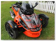 Can-Am Spyder RS GS CreatorX Graphics Kit SpiderX Red 003
