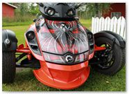 Can-Am Spyder RS GS CreatorX Graphics Kit SpiderX Red 004