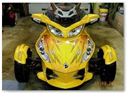 Can-Am Spyder RT CreatorX Graphics Cold Fusion Yellow 004
