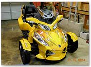Can-Am Spyder RT CreatorX Graphics Cold Fusion Yellow 005