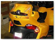 Can-Am Spyder RT CreatorX Graphics Cold Fusion Yellow 006