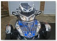 Can-Am Spyder RT CreatorX Graphics SpiderX Blue 01