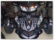Can-Am Spyder RTS Graphics by CreatorX SpiderX Design Silver 001