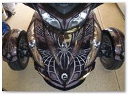 Can-Am Spyder RTS Graphics by CreatorX SpiderX Design Silver 009