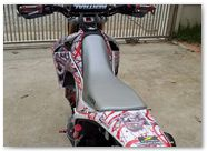 Honda CRF250L CreatorX Graphics Samurai Red White 01