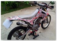 Honda CRF250L CreatorX Graphics Samurai Red White 02