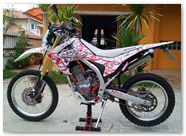 Honda CRF250L CreatorX Graphics Samurai Red White 03