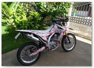 Honda CRF250L CreatorX Graphics Samurai Red White 04