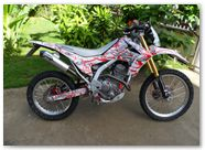 Honda CRF250L CreatorX Graphics Samurai Red White 05