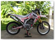 Honda CRF250L CreatorX Graphics Samurai Red White 07