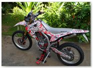 Honda CRF250L CreatorX Graphics Samurai Red White 08