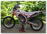 Honda CRF250L CreatorX Graphics Samurai Red White 09