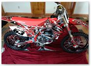 Honda CRF450R CreatorX Graphics 2013 2014 SpiderX Red 001