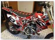 Honda CRF450R CreatorX Graphics 2013 2014 SpiderX Red 002