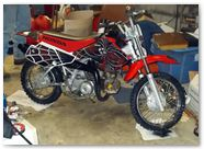 Honda CRF 50 CREATORX Graphics SpiderX Red