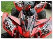 Honda TRX400EX 08-14 CREATORX Graphics Kit SpiderX Red 1