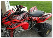 Honda TRX400EX 08-14 CREATORX Graphics Kit SpiderX Red 2