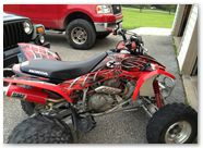 Honda TRX400EX 08 14 CreatorX Graphics Kit SpiderX Red 3