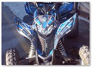 Honda TRX 700 CREATORX Graphics SpiderX Blue 02