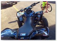 Honda TRX 700 CREATORX Graphics SpiderX Blue 03