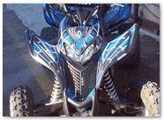 Honda TRX 700 CREATORX Graphics SpiderX Blue 04