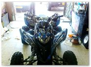 Honda TRX 700 CREATORX Graphics SpiderX Blue 05