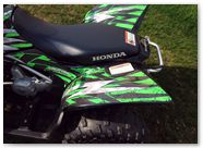 Honda TRX 90 CREATORX Graphics Bolt Thrower Green 2