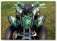 Honda TRX 90 CREATORX Graphics Bolt Thrower Green 4