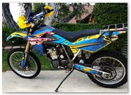 Husqvarna CreatorX Graphics Little Sins Blue Ice 01