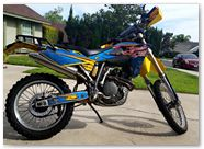 Husqvarna CreatorX Graphics Little Sins Blue Ice 02