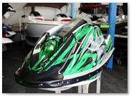 Kawasaki JetSki SX R800 CREATORX Graphics Kit Bolt Thrower Green 1