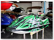 Kawasaki JetSki SX R800 CREATORX Graphics Kit Bolt Thrower Green 2