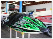 Kawasaki JetSki SX R800 CREATORX Graphics Kit Bolt Thrower Green 7