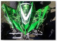 Kawasaki KFX CREATORX Graphics Inferno Green 01