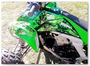 Kawasaki KFX CREATORX Graphics Inferno Green 02