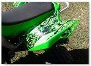 Kawasaki KFX CREATORX Graphics Inferno Green 03