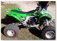 Kawasaki KFX CREATORX Graphics Inferno Green 04