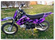 Kawasaki KLX110 CREATORX Graphics Backdraft Purple