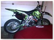 Kawasaki KXF CreatorX Graphics Inferno Green 002