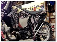 KTM 2012 CreatorX Graphics Kit Skullcified Silver 002