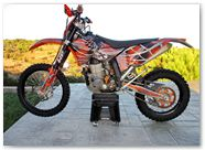 KTM EXC450 2008 CREATORX Graphics SpiderX Orange 1